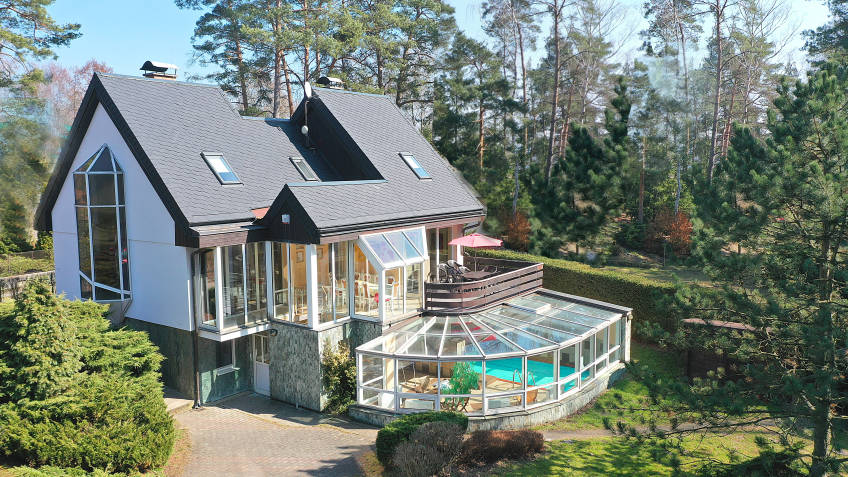 Wellness holiday house BRANZEZ with in-door swimming pool, sauna and steam bath