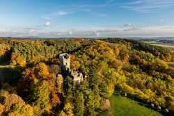 Burgruine Valecov - zu Fuß ab Haus erreichbar