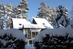 Haus BRANZEZ im Winter