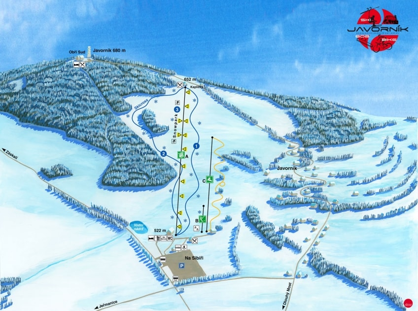 ski resort - Obri sud-Javornik - super for families
