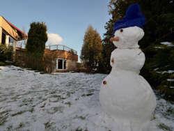 Der Winter geht... der Schneemann bleibt noch...