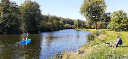 Fischfang und Kanufahrten an der Iser - etwa 500 m ab Haus