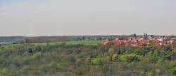 Blick aus der Altstadt in Richtung unser Dorf